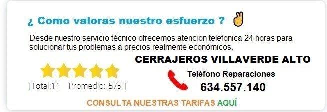 cerrajero Villaverde Alto precios
